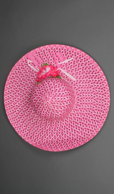 PINK NET HAT