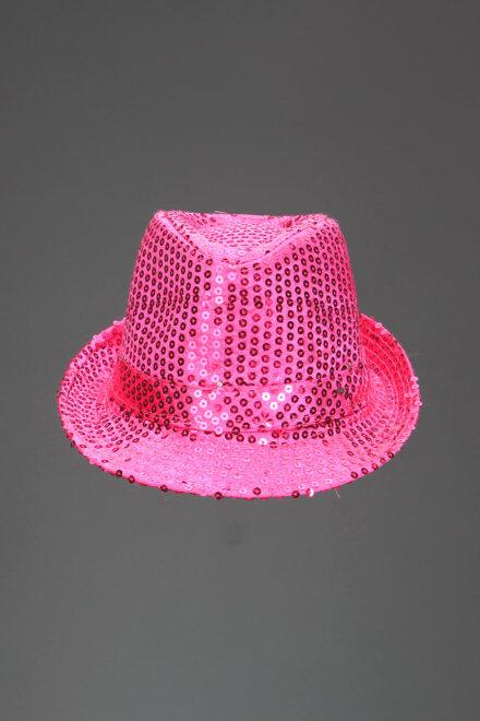 SHINY PINK FEDORA HAT