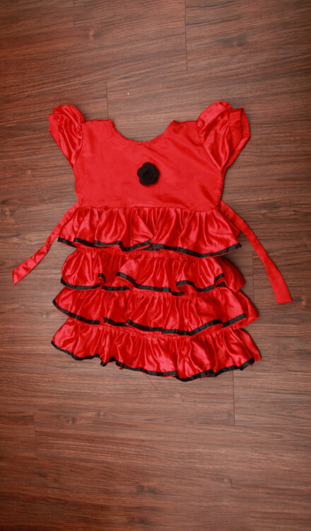 RED FRILL FROCK