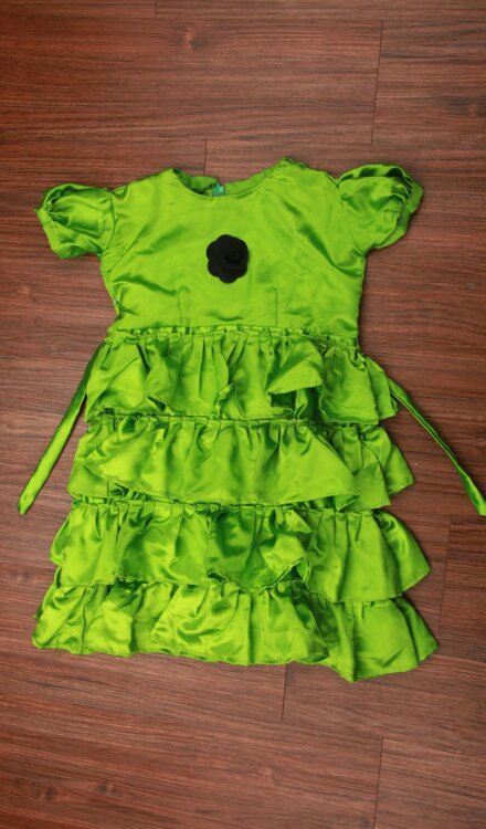 GREEN FRILL FROCK