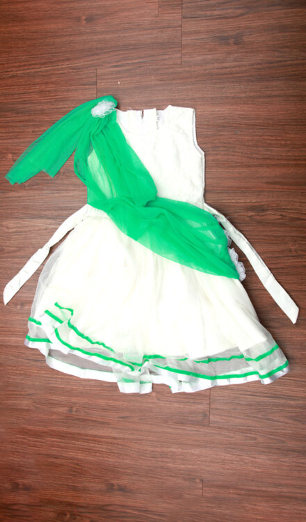 WHITE GREEN FROCK
