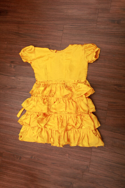 YELLOW FRILL FROCK