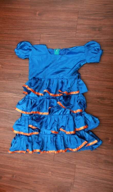 BLUE FRILL FROCK