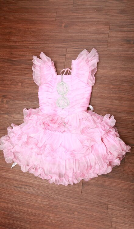 BABY PINK FRILL FROCK