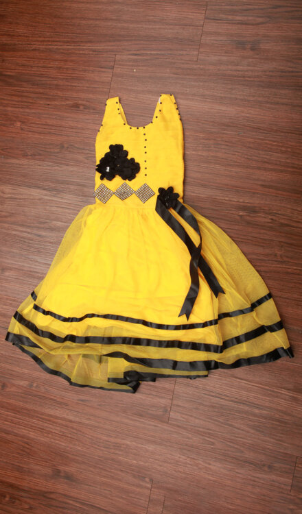 YELLOW FLARE FROCK