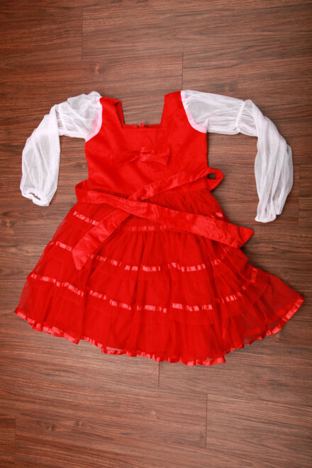 RED FLARE FROCK