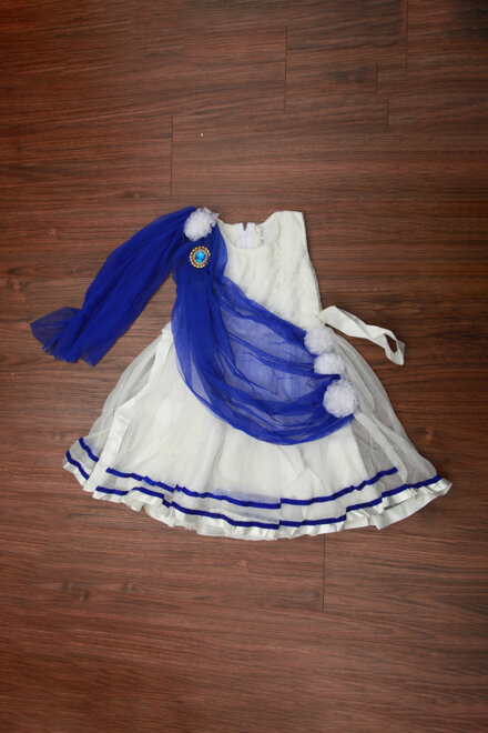 WHITE BLUE FROCK