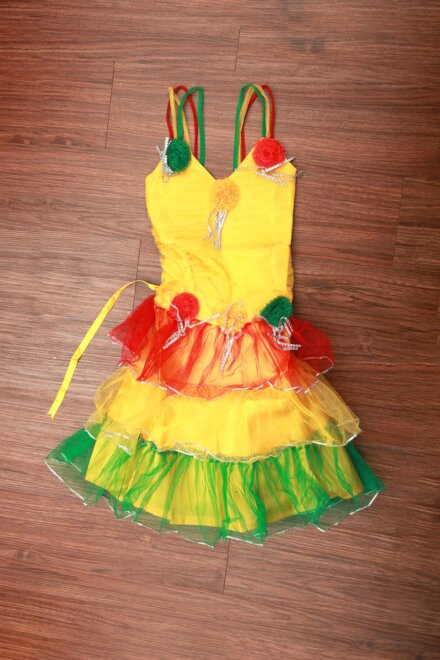 YELLOW BUTTERFLY FRILL FROCK