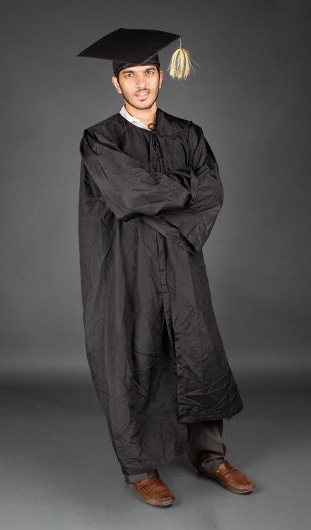 BLACK GRADUATION COSTUME
