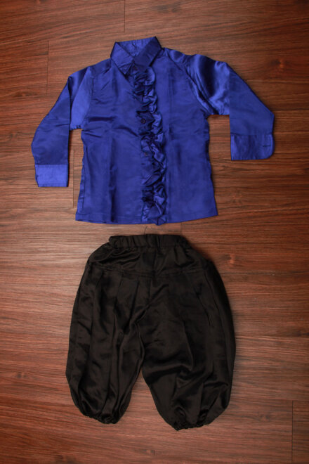 BLUE FRILL SHIRT AND HAREM PANT