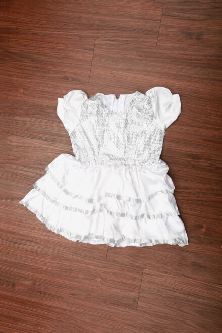 WHITE FRILL FROCK