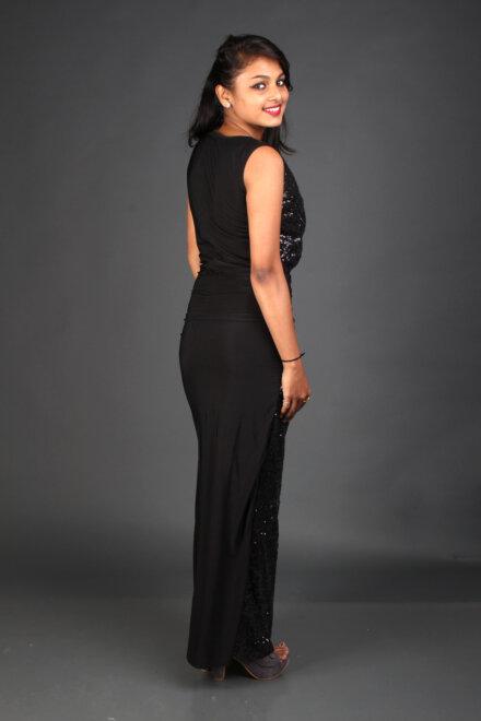 SHINY BLACK DRESS