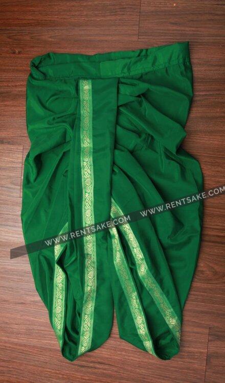 GREEN DHOTI