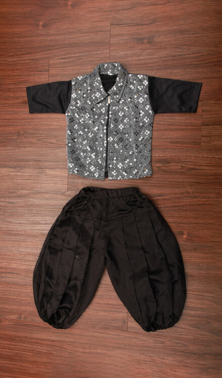 GREY SEQUIN JACKET AND PANT