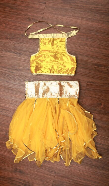 FLARE YELLOW SKIRT AND TOP