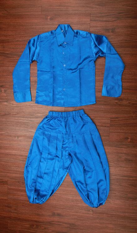 BLUE SHIRT AND HAREM PANT
