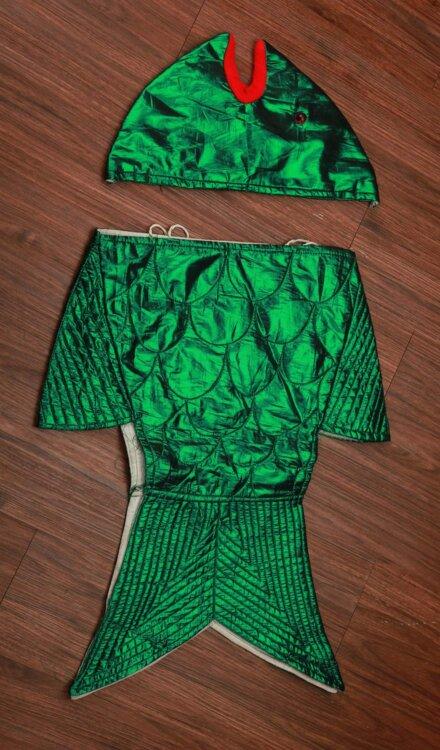 GREEN FISH COSTUME