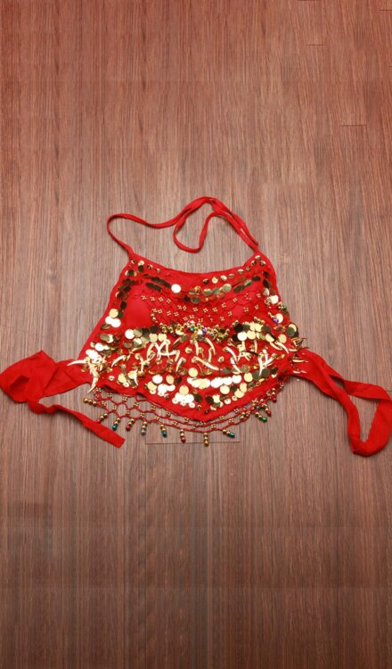 RED BELLY DANCE TOP