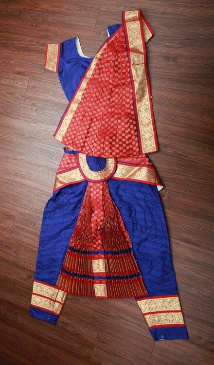 BLUE RED BHARATNATYAM