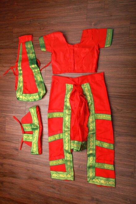 ORANGE BHARATNATYAM DRESS