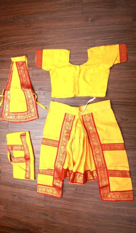 YELLOW BHARATNATYAM DRESS