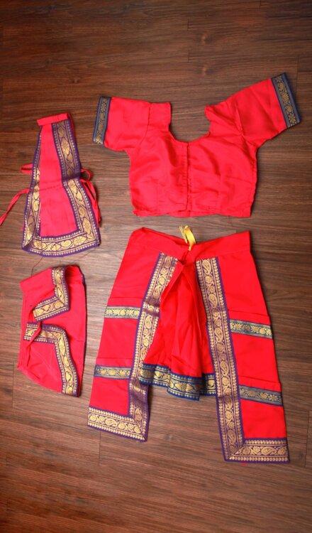 PINK BHARATNATYAM DRESS