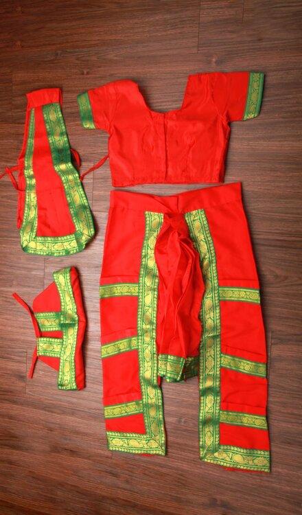 RED BHARATNATYAM DRESS