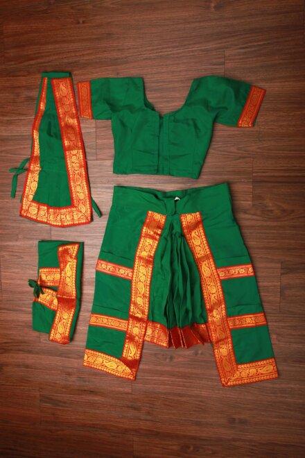 GREEN BHARATNATYAM DRESS