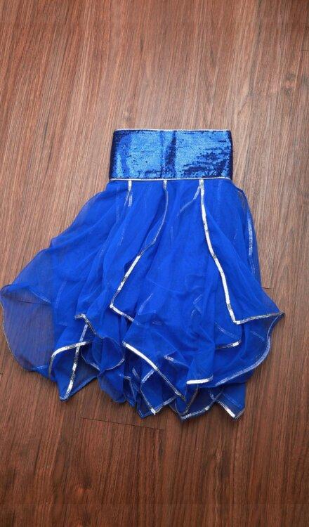 FLARE BLUE SHORT SKIRT