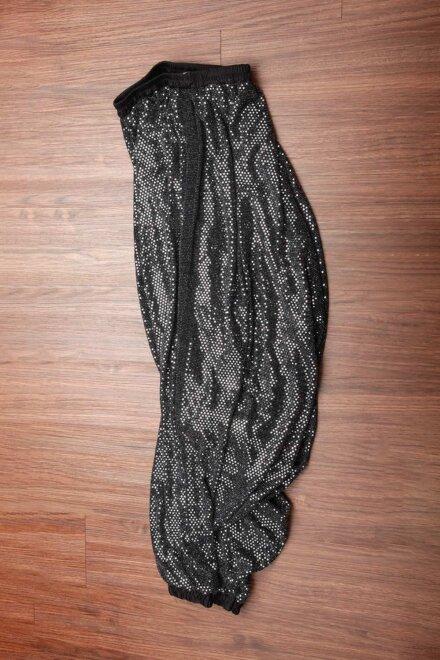 BLACK SILVER CROCH PANT