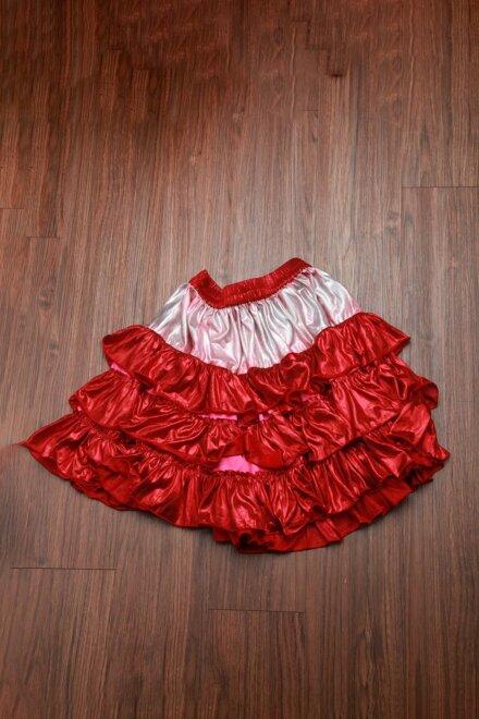 FRILL RED SKIRT
