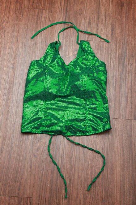 SHINY GREEN TOP
