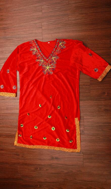 RED KASHMIRI DRESS