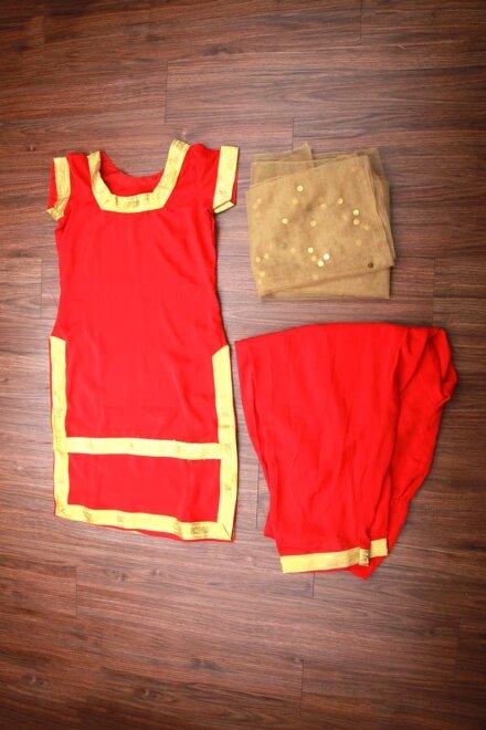 RED PUNJABI COSTUME